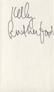 KELLY RUTHERFORD - AUTOGRAPH