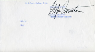 GEORGE A. SMATHERS - TYPED SENTIMENT SIGNED