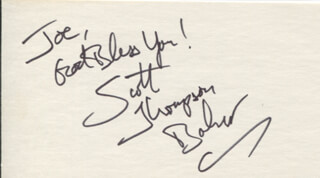 SCOTT THOMPSON BAKER - AUTOGRAPH NOTE SIGNED
