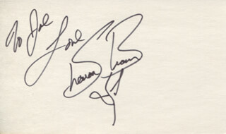 SHARON BROWN - AUTOGRAPH NOTE SIGNED