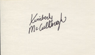 KIMBERLY MCCULLOUGH - AUTOGRAPH