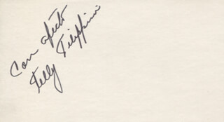 TELLY FILIPPINI - AUTOGRAPH SENTIMENT SIGNED
