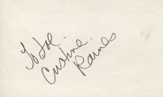 CRISTINA RAINES - INSCRIBED SIGNATURE