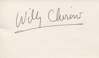 Autographs: WILLY CHIRINO - SIGNATURE(S)