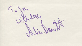 ALICE BARRETT - AUTOGRAPH NOTE SIGNED