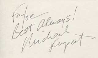 MICHAEL RUPERT - AUTOGRAPH NOTE SIGNED