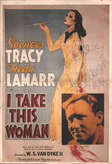 HEDY LAMARR - INSCRIBED POSTER SIGNED 1988