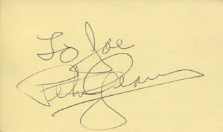 PETER GRAVES - INSCRIBED SIGNATURE