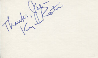 KYLE ROTE SR. - AUTOGRAPH NOTE SIGNED