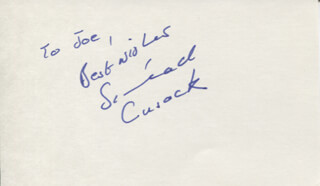 Autographs: SINEAD CUSACK - AUTOGRAPH NOTE SIGNED