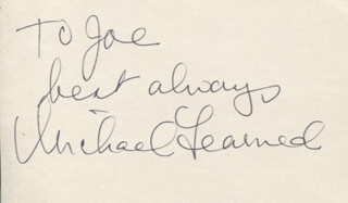 MICHAEL LEARNED - AUTOGRAPH NOTE SIGNED