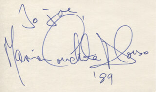MARIA CONCHITA ALONSO - INSCRIBED SIGNATURE 1989