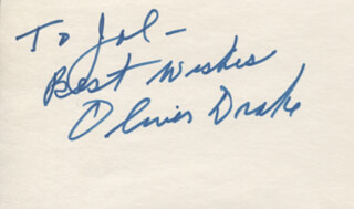 OLIVER DRAKE - AUTOGRAPH NOTE SIGNED
