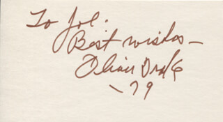 OLIVER DRAKE - AUTOGRAPH NOTE SIGNED 1979