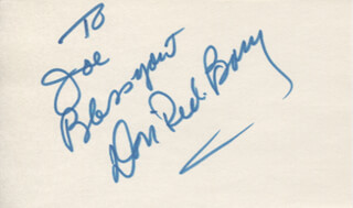 DON RED BARRY - AUTOGRAPH NOTE SIGNED