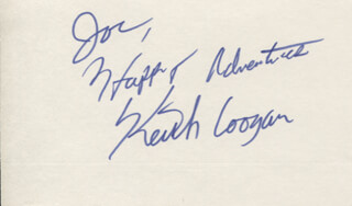KEITH COOGAN - AUTOGRAPH NOTE SIGNED