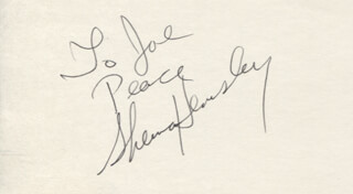 SHERMAN HEMSLEY - AUTOGRAPH NOTE SIGNED
