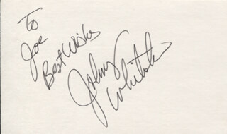 JOHNNY WHITAKER - AUTOGRAPH NOTE SIGNED