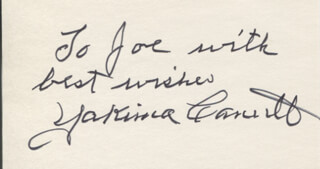 YAKIMA CANUTT - AUTOGRAPH NOTE SIGNED