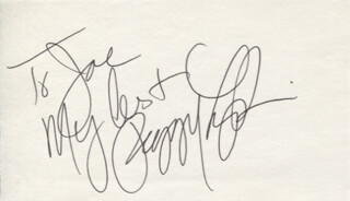 PEGGY LIPTON - AUTOGRAPH NOTE SIGNED