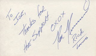 RON NUMMI - AUTOGRAPH NOTE SIGNED