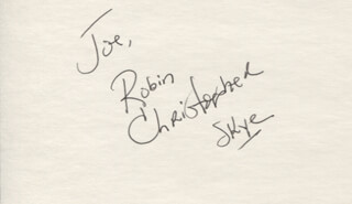 ROBIN CHRISTOPHER - INSCRIBED SIGNATURE