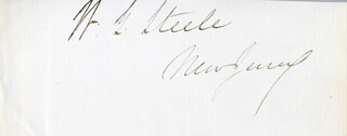 WILLIAM GASTON STEELE - AUTOGRAPH