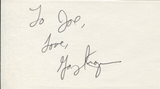 GARY KROEGER - AUTOGRAPH NOTE SIGNED