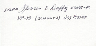 LT. COMMANDER JAMES E. DUFFY JR. - AUTOGRAPH