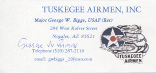 Autographs: GEORGE W. BIGGS - BUSINESS CARD SIGNED