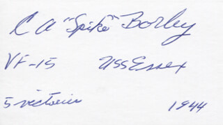 Autographs: COMMANDER CLARENCE A. SPIKE BORLEY - SIGNATURE(S)