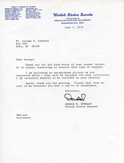 DONALD STEWART - TYPED LETTER SIGNED 06/07/1979