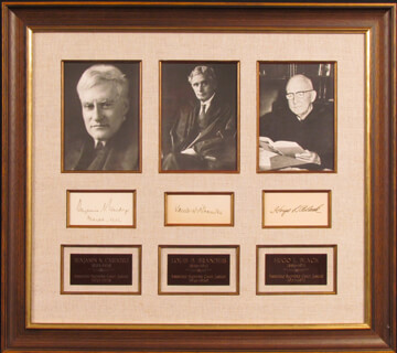 ASSOCIATE JUSTICE HUGO L. BLACK - COLLECTION CO-SIGNED BY: ASSOCIATE JUSTICE BENJAMIN N. CARDOZO, ASSOCIATE JUSTICE LOUIS D. BRANDEIS