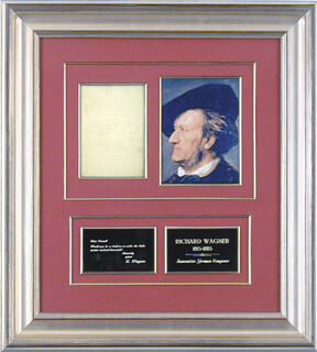 Autographs: RICHARD WAGNER - AUTOGRAPH NOTE SIGNED