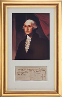PRESIDENT GEORGE WASHINGTON - RECEIPT SIGNED 07/10/1771