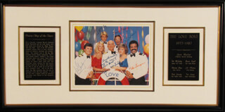 THE LOVE BOAT TV CAST - AUTOGRAPHED SIGNED PHOTOGRAPH CO-SIGNED BY: BERNIE KOPELL, TED McGINLEY, TED LANGE, JILL WHELAN, PATRICIA KLOUS, FRED GRANDY, GAVIN MacLEOD