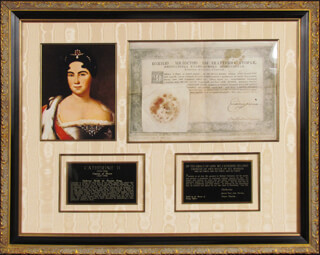 Autographs: EMPRESS THE GREAT CATHERINE II - MILITARY APPOINTMENT SIGNED 01/01/1765