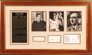 DR. MICHAEL E. DEBAKEY - COLLECTION WITH DR. DENTON A. COOLEY, CHRISTIAAN BARNARD