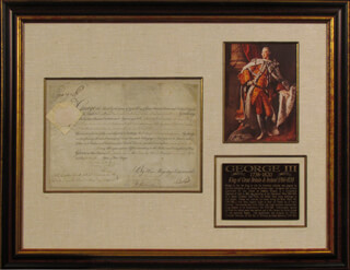 Autographs: KING GEORGE III (GREAT BRITAIN) - MILITARY APPOINTMENT SIGNED 01/23/1800 CO-SIGNED BY: PRIME MINISTER WILLIAM PORTLAND CAVENDISH-BENTINCK (GREAT BRITAIN)