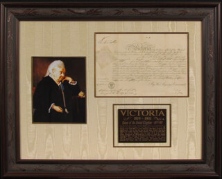 Autographs: QUEEN VICTORIA (GREAT BRITAIN) - MILITARY APPOINTMENT SIGNED CIRCA 1849 CO-SIGNED BY: SIR GEORGE GREY