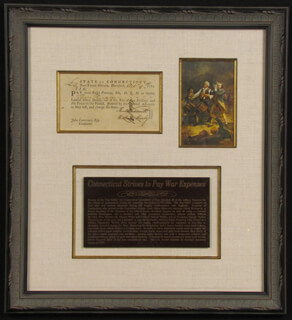 Autographs: CONNECTICUT REVOLUTIONARY WAR - PROMISSORY NOTE SIGNED 10/09/1781 CO-SIGNED BY: WILLIAM MOSELEY, FENN WADSWORTH, HEZEKIAH ROGERS, WILLIAM ADAMS