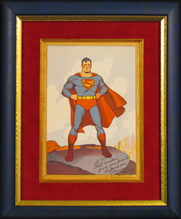 Autographs: GEORGE SUPERMAN REEVES - INSCRIBED PRINTED ART SIGNED