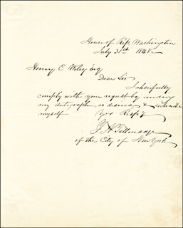 FREDERICK A. TALLMADGE - AUTOGRAPH LETTER SIGNED 07/31/1848