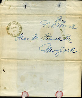 NATHANIEL PITCHER TALLMADGE - FREE FRANK SIGNED 7/20