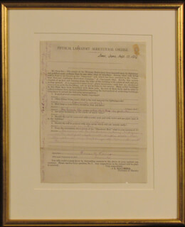 THOMAS A. EDISON - AUTOGRAPH DOCUMENT UNSIGNED 09/27/1879