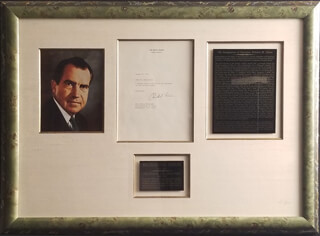 PRESIDENT RICHARD M. NIXON - TYPED LETTER SIGNED CIRCA 1974