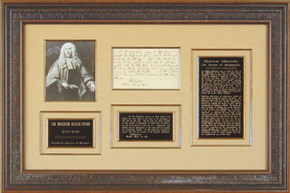 SIR WILLIAM BLACKSTONE - THIRD PERSON AUTOGRAPH LETTER 4/17