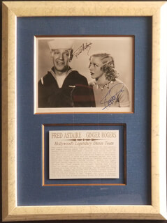 FRED ASTAIRE - AUTOGRAPHED SIGNED PHOTOGRAPH 1936 CO-SIGNED BY: GINGER ROGERS