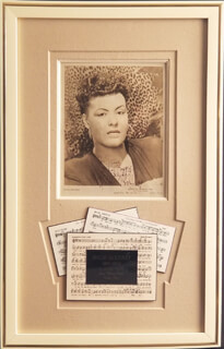 BILLIE HOLIDAY - AUTOGRAPHED INSCRIBED PHOTOGRAPH