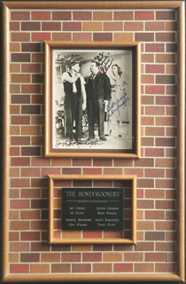 THE HONEYMOONERS TV CAST - AUTOGRAPHED SIGNED PHOTOGRAPH CO-SIGNED BY: JOYCE RANDOLPH, ART CARNEY, AUDREY MEADOWS, JACKIE THE GREAT ONE GLEASON